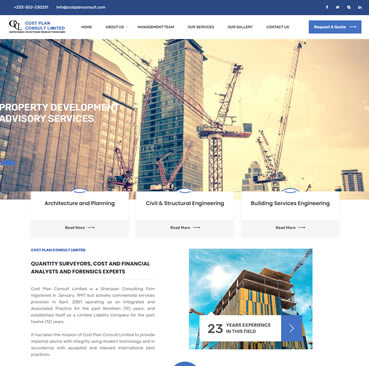 Website Development for Construction Companies in Ghana