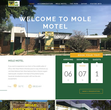 Website Design Services for Hotels in Ghana