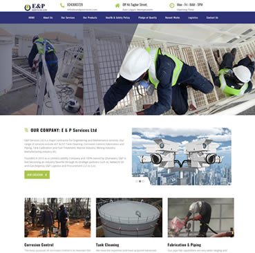 Website Design for Oil and Gas Firms in Ghana