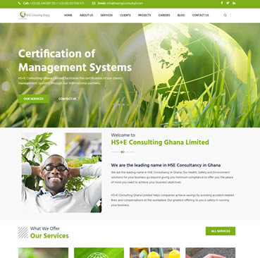 Website Design for Consulting Companies in Ghana