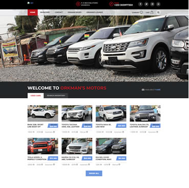 Website Design Services for Car Dealers in Ghana