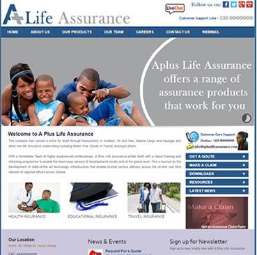 Website Design Services for Insurnace Companies in Ghana