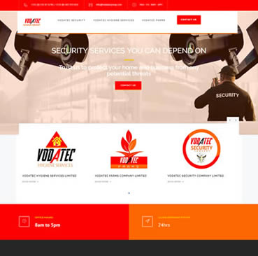 Website Design for security companies in Ghana