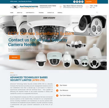 Website Development Services for security industry in Ghana