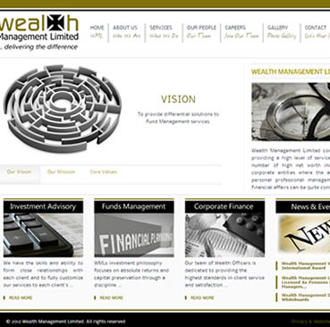 Website Design Services for Wealth Management Companies in Ghana