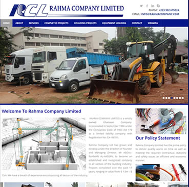 Website Development Services for Construction Companies in Ghana