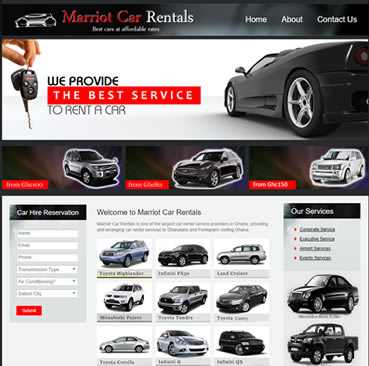 Website Design Services for Car Rental Companies in Ghana