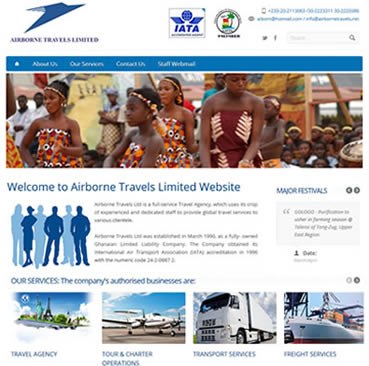 Website Design Services for Travel and Tour Companies in Ghana