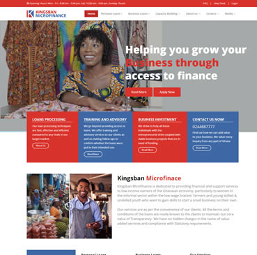 Website Development for Microfinance Companies in Ghana