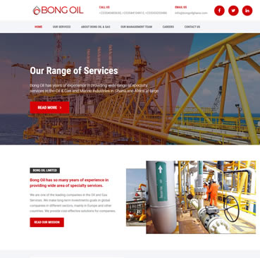 Website Design for Oil Marketing Company in Ghana