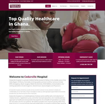 Website Development Services for Hospitals in Ghana