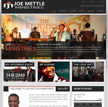 Website Development Services for music industry in Ghana