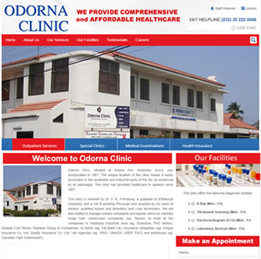 Website Development Services for Clinics in Ghana