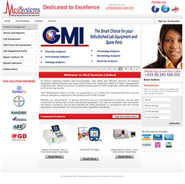Website Development for Medical Equipment Companies in Ghana