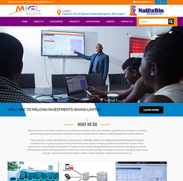 Website Design Services for Waste Management Companies in Ghana